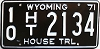 1971 Wyoming House Trailer # 2134, Fremont County