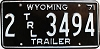 1971 Wyoming Trailer # 3494, Laramie County