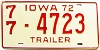 1972 Iowa Trailer #4723, Polk County
