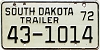 1972 South Dakota Trailer #1014, Lyman County