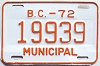 1972 British Columbia Municipal # 19939