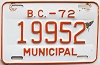 1972 British Columbia Municipal # 19952