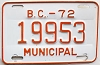 1972 British Columbia Municipal # 19953