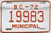 1972 British Columbia Municipal # 19983