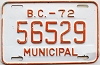 1972 British Columbia Municipal # 56529