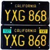 1972 California pair # YXG-868