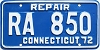 1972 Connecticut Repair # RA 850