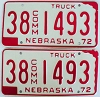 1972 Nebraska Commercial Truck pair # 1493, Furnas County