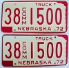 1972 Nebraska Commercial Truck pair # 1500, Furnas County