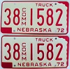 1972 Nebraska Commercial Truck pair # 1582, Furnas County