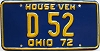 1972 Ohio House Vehicle # D 52