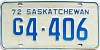 1972 Saskatchewan Government # 4-406