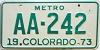 1973 Colorado Metro #AA-242, Denver County