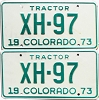 1973 Colorado Tractor pair # XH-97, Chaffee County