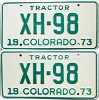 1973 Colorado Tractor pair # XH-98, Chaffee County