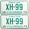 1973 Colorado Tractor pair # XH-99, Chaffee County