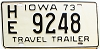 1973 Iowa Travel Trailer #HE9248