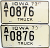1973 Iowa Truck pair #AT0876