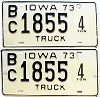1973 Iowa 4 Ton Truck pair #1855