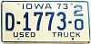 1973 Iowa Used Truck Dealer #1773, Clarke County