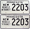 1973 Minnesota New Vehicle In Transit pair # 2203