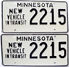 1973 Minnesota New Vehicle In Transit pair # 2215