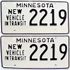 1973 Minnesota New Vehicle In Transit pair # 2219