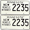 1973 Minnesota New Vehicle In Transit pair # 2235