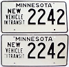1973 Minnesota New Vehicle In Transit pair # 2242