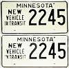 1973 Minnesota New Vehicle In Transit pair # 2245