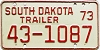 1973 South Dakota Trailer #1087, Lyman County