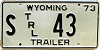 1973 Wyoming State Owned Trailer #43