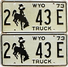 1973 Wyoming Truck pair #43E, Laramie County