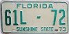 1973 Florida Semi Trailer # 61L72, Flagler County