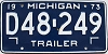 1973 Michigan Trailer # D48-249
