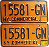 1973 New York Commercial pair # 15581-GN