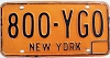 1973 base New York # 800-YGO