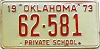 1973 Oklahoma Private School # 62-581
