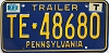 1973 PENNSYLVANIA TRAILER license plate # TE-48680