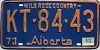 1974 Alberta Wild Rose Country # KT-84-43