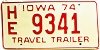 1974 Iowa Travel Trailer #3341