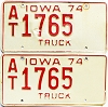 1974 Iowa Truck pair #AT1765