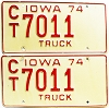 1974 Iowa Truck pair #CT7011