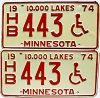 1974 Minnesota Disabled pair # HB443