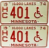 1974 Minnesota Disabled pair # HC401