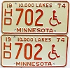 1974 Minnesota Disabled pair # HD702