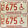 1974 Minnesota Disabled pair # HE675