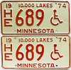 1974 Minnesota Disabled pair # HE689