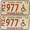 1974 Minnesota Disabled pair # HE977