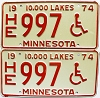 1974 Minnesota Disabled pair # HE997
